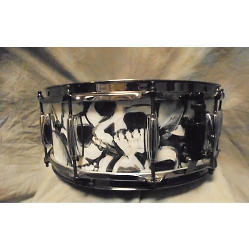 In Store Used Used CYCLONE DRUMS 6X14 CUSTOM SHOP CUSTOM SKULL Drum-thumbnail