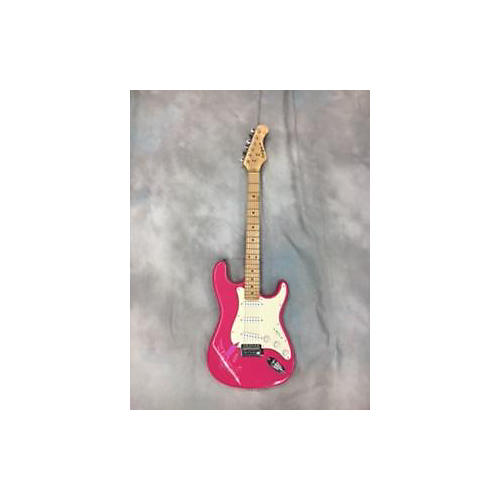 In Store Used Used California Double Cutaway Pink Solid Body Electric Guitar-thumbnail