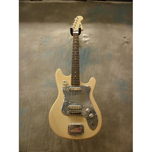 In Store Used Used Canora 1960s 2 Pickup Antique White Solid Body Electric Guitar