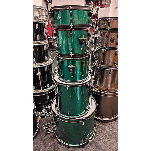 In Store Used Used Cecilio 5 piece Mendini Green Drum Kit-thumbnail