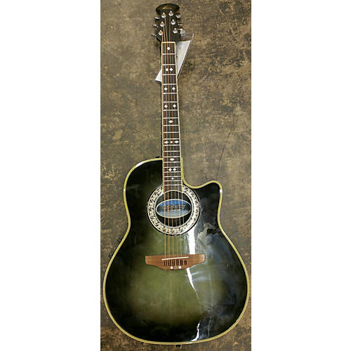 In Store Used Used Celebrity By Ovation Cc57 Green Acoustic Electric Guitar-thumbnail