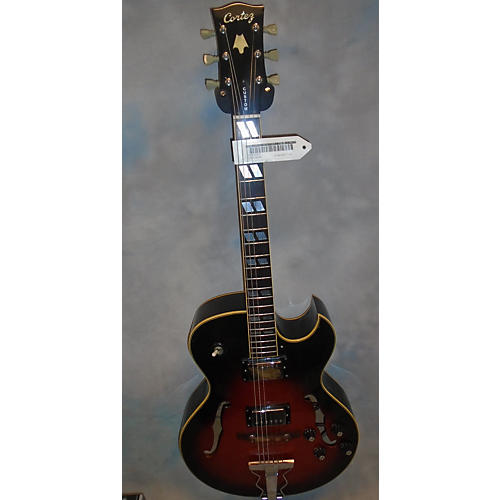 In Store Used Used Cortez 1970s P0405 2 Color Sunburst Hollow Body Electric Guitar-thumbnail