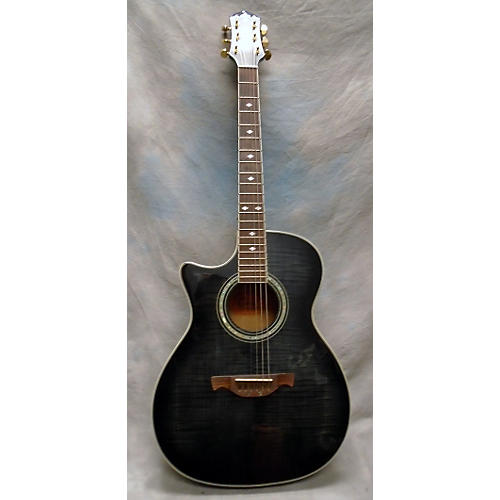 In Store Used Used Crafter ATE 70CEQL Charcoal Acoustic Electric Guitar