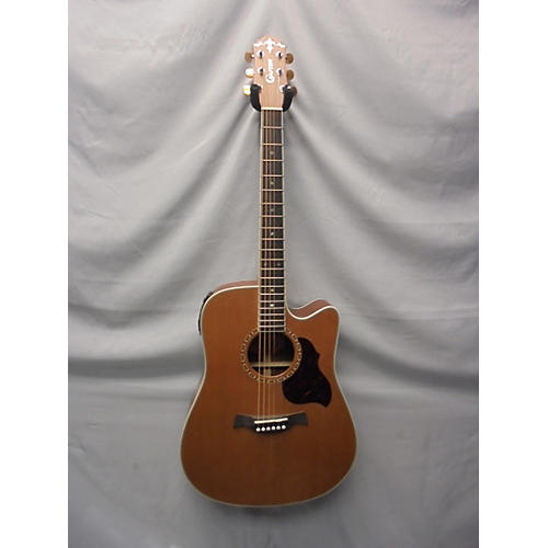 In Store Used Used Crafter DE7 Natural Acoustic Electric Guitar