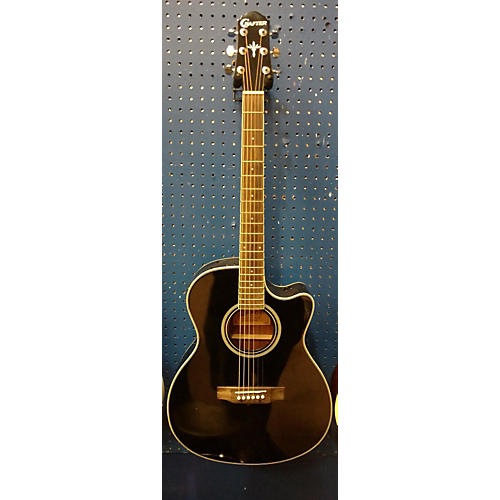 In Store Used Used Crafter Htc-24eq/bk Black Acoustic Electric Guitar