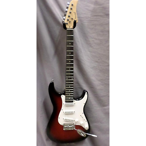 In Store Used Used Crescent S Style Transparent Red Solid Body Electric Guitar
