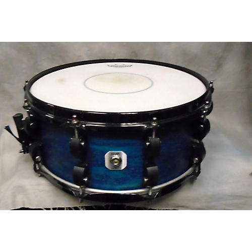 In Store Used Used Crush Drums 5.5X14 Chameleon Ash Satin Blue Drum Satin Blue 10