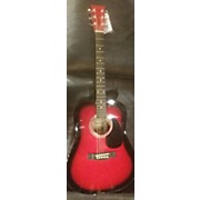 Used DANVILLE D42-RDS Red Acoustic Guitar