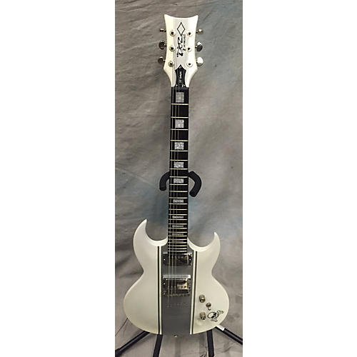In Store Used Used DBZ Guitars W/CASE RENSTP 14 WHSS White Solid Body Electric Guitar