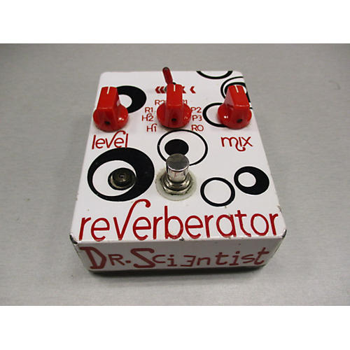 In Store Used Used DR SCIENTIST REVERBERATOR RADICAL RED Effect Pedal-thumbnail