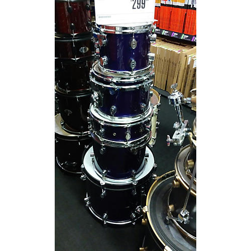 In Store Used Used DW PACIFIC 2000s 5 piece CX Blue Drum Kit