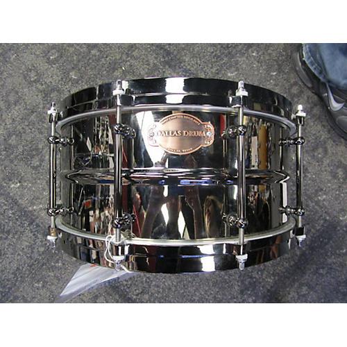In Store Used Used Dallas Drum 6.5X14 Black Nickel W/ Tube Lugs Black Nickel Steel Drum