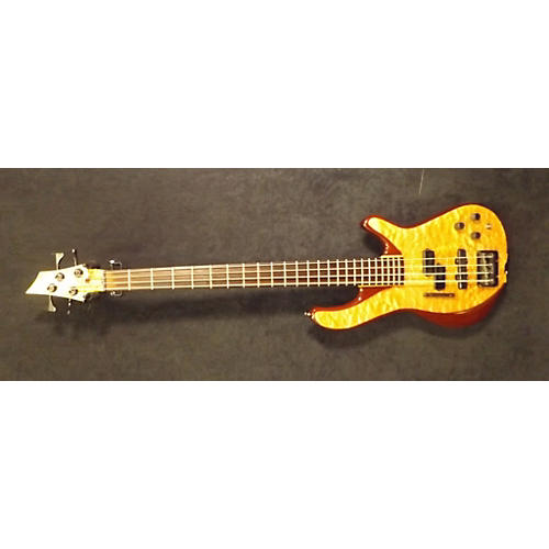 In Store Used Used Dave Lewis Custom 4 String Quilted Maple Electric Bass Guitar-thumbnail