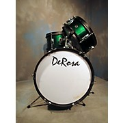 Used DeRosa 3 piece DeRosa Green Drum Kit