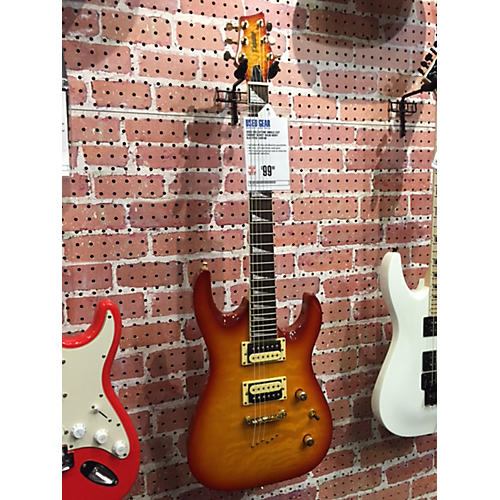 In Store Used Used Deltatone Single Cut Cherry Burst Solid Body Electric Guitar-thumbnail