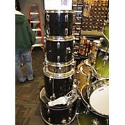 Used Drum 9 piece And Hardware Black Drum Kit