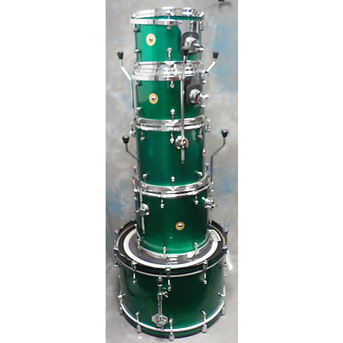 In Store Used Used ELLIS 5 piece CUSTOM GREEN SPARKLE Drum Kit
