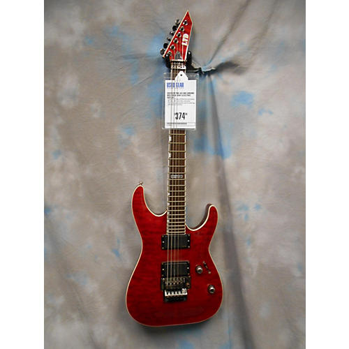 In Store Used  Used ESP MH-401QM Chrome Red Solid Body Electric Guitar