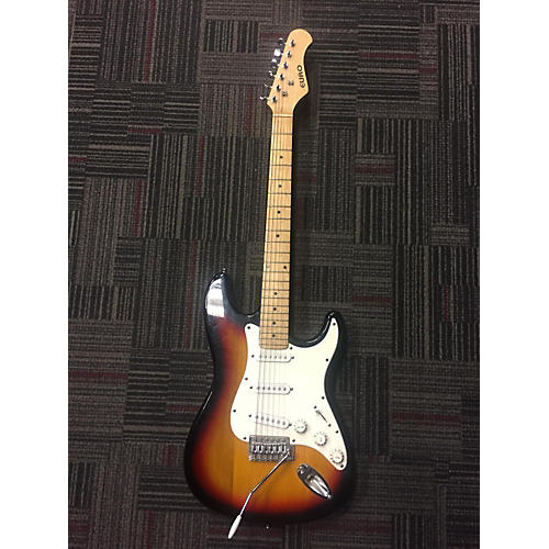 In Store Used Used EURO EURO STRAT Tobacco Sunburst Solid Body Electric Guitar-thumbnail