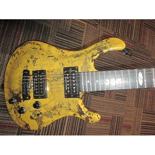In Store Used Used Eklein Flaxwood Graffiti Yellow Hollow Body Electric Guitar-thumbnail