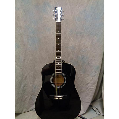 In Store Used Used Eleca DAG-5-BK Black Acoustic Guitar-thumbnail