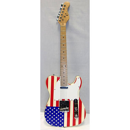 used eleca tele american flag solid body electric guitar guitar center. Black Bedroom Furniture Sets. Home Design Ideas