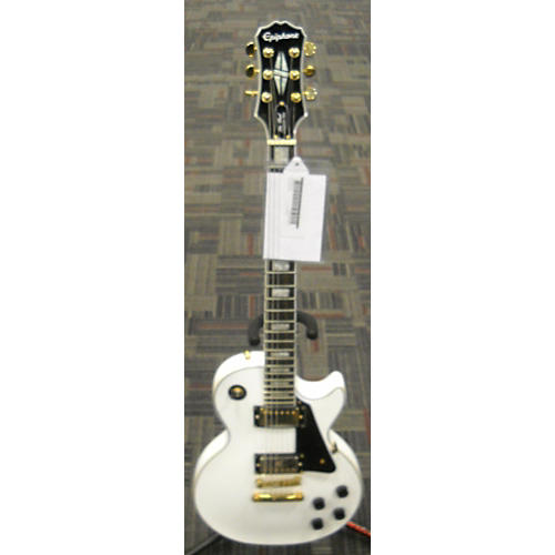 In Store Used  Used Epiphone Les Paul Custom Pro Alpine White Solid Body Electric Guitar