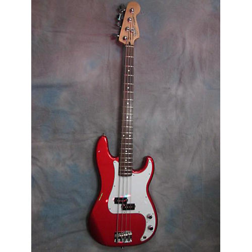 In Store Used  Used Fender 2007 Standard Precision Bass Candy Apple Red Electric Bass Guitar