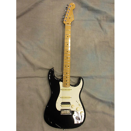In Store Used  Used Fender 2015 American Standard Stratocaster HSS Shawbucker Black Solid Body Electric Guitar-thumbnail