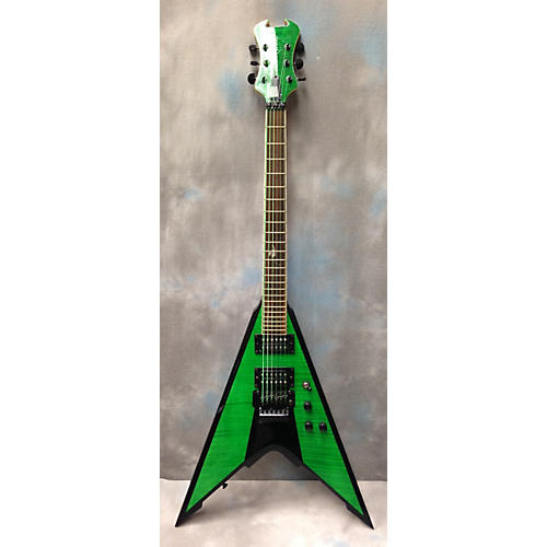 In Store Used Used Fireplant WMD V Green Solid Body Electric Guitar Green
