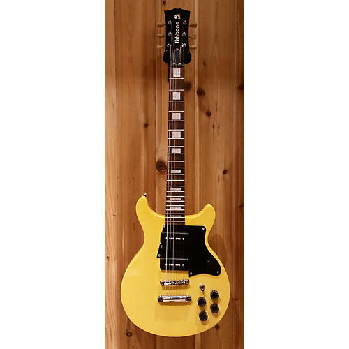 In Store Used Used Fishbone 59DC Yellow Solid Body Electric Guitar-thumbnail