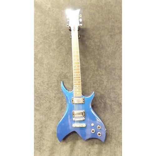 In Store Used Used GJ Gould Offset Candy Blue Solid Body Electric Guitar-thumbnail