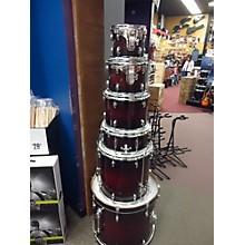 Used GRETSCH 6 piece CATALINA MAPLE Dark Cherry Burst Drum Kit
