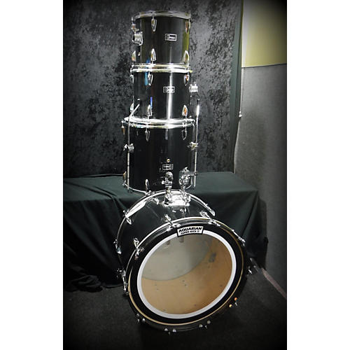 In Store Used Used Gammon 4 piece 4 Piece Drum Set Black Drum Kit-thumbnail