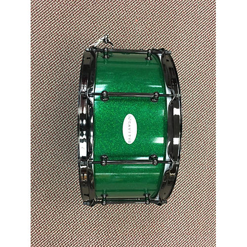 In Store Used Used Gravity 2016 6.5X14 Custom Green Sparkle Lacquer Drum