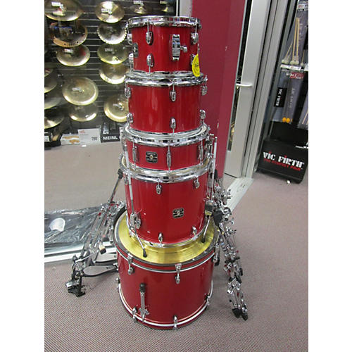 used gretsch 5 piece energy candy apple red drum kit guitar center. Black Bedroom Furniture Sets. Home Design Ideas