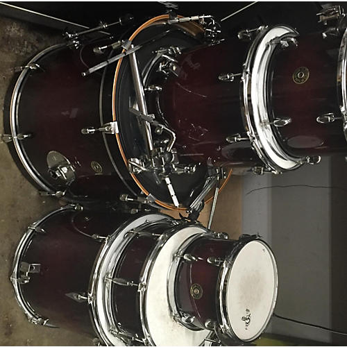 In Store Used Used Gretsch 7 piece Catalina Maple 7 Piece Deep Cherry Burst Drum Kit-thumbnail