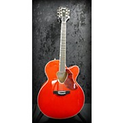 Used Gretsch G5022ce Western Orange Acoustic Electric Guitar