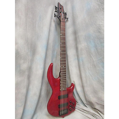 In Store Used Used Groove Tools By Conklin GT-5 Flamed Red Electric Bass Guitar