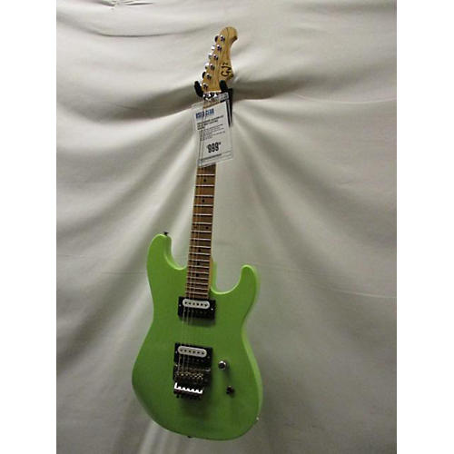 Used Grover Jackson GJ2 Lime Green Solid Body Electric ...