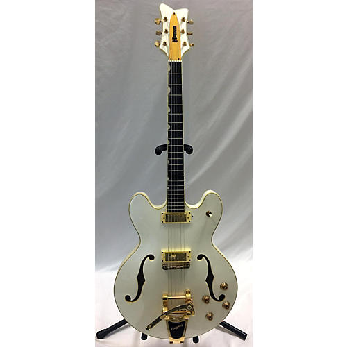 In Store Used Used Hanson Chicogoan White Hollow Body Electric Guitar