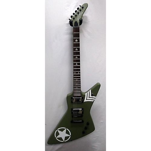 In Store Used Used Hardluck Lady Luck Matte Green Solid Body Electric Guitar