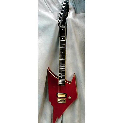 In Store Used Used Hodno 1980s Coyote Trans Red Solid Body Electric Guitar-thumbnail