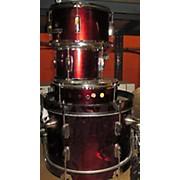Used Horner 5 piece 5 Piece Rockwood Jr Wine Red Drum Kit