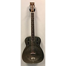 Used Hot Rod Steel Satin Palms Steel Resonator Guitar