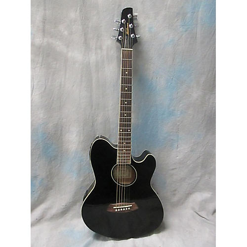 In Store Used Used Ibanez Talman TCY10E Black Acoustic Electric Guitar-thumbnail
