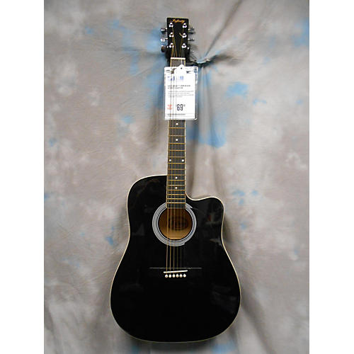 In Store Used Used Infinity DRW Black Acoustic Guitar-thumbnail