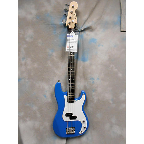 In Store Used Used Isin Double Cut Bass Blue Electric Bass Guitar-thumbnail
