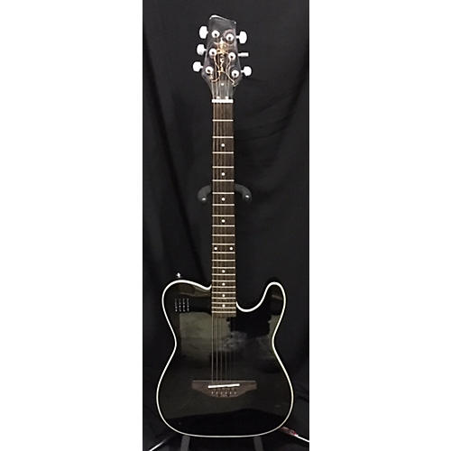 In Store Used Used James Neligan EW3000CBK Black Acoustic Electric Guitar-thumbnail