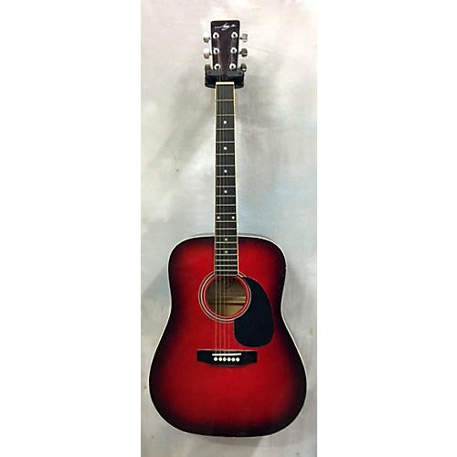 In Store Used Used Jay Jr. JayTRD-TR Candy Apple Red Acoustic Guitar